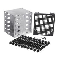 5.25'' to 5x3.5'' SATA SAS HDD Cage Rack Hard Driver Tray Bracket With Fan Space