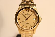 "RETRO NICE LUXURY CLASSIC SWISS MEN'S GOLD PLATED QUARTZ WATCH ""CANDINO"""