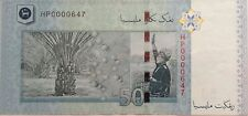 RM50 Zeti sign Low Number Note HP 0000647