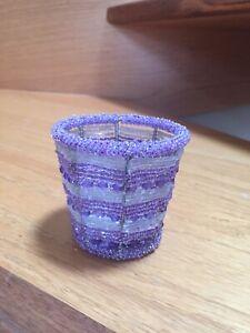 Beaded Votive Or Tea light Candle Holder