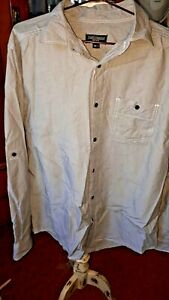 Just Jeans casual long sleeve shirt size L thin black stripe cotton FREE POST