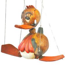 alte Holz Marionette Ente Tweety Puppenspieler