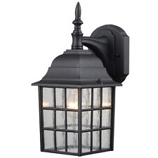 Hardware House Textured Black Aluminum Outdoor Light Fixture, #22-9364