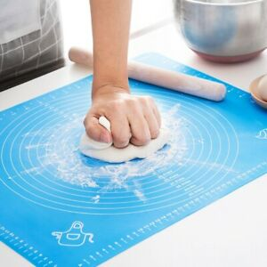 Non Stick Silicone Cake Kneading Dough Baking Mat Pastry Rolling Dough Pad UK
