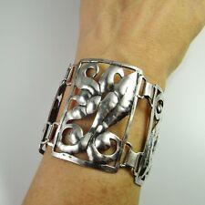Antique Victorian Bracelet Bangle Arts and Crafts Sterling Silver Post Georgian