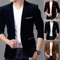 Business Mens Casual Formal Jacket Coat Slim Fit Suit Blazer Jacket Outwear Tops