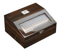 Elegant 50+ CT Count Cigar Humidor Humidifier Wooden Case Box Hygrometer 1fiv