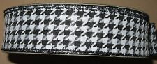 """Lot of 5 Yards Wire Edge Ribbon 1 1/2"""" wide Black White Houndstooth"""