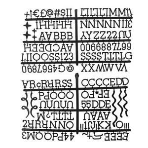 Felt Letterboard Matching Letters Christmas Number Letter Set Message Board