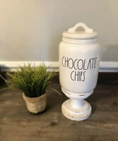 Rae Dunn Magenta CHOCOLATE CHIPS Small Super Cute New Release Canister