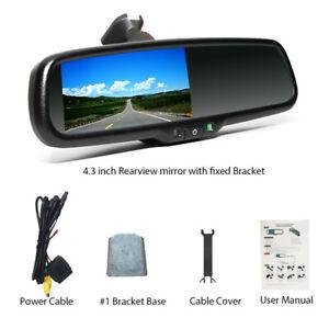 """4.3"""" Dimming Car TFT LCD Rear View Mirror Monitor w/Rear Camera Night Vision 12V"""