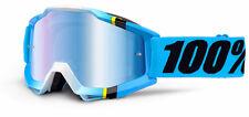 100% MASCHERA OCCHIALE ACCURI BLUE CRYSTAL BIANCO BLU MOTO CROSS ENDURO GOGGLE
