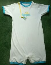 """Adult baby Embroidered Romper Pampers Logo Chest 43"""" Torso 38+"""""""
