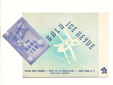 ICE EIS GALA REVUE SKATERS 1930er Jahre Programmheft Hotel New Yorker New York
