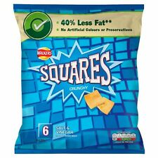 Walkers Squares Salt and Vinegar Snacks 6x22g - Sold Worldwide From UK