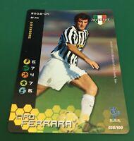 FIGURINA CARDS WIZARDS FOOTBALL CHAMPIONS 2003-04 FOIL JUVENTUS FERRARA