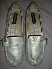 HUSH PUPPIES  UK 9 EU 43 SILVER LEATHER Shoes