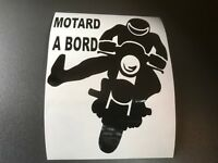 STICKER AUTOCOLLANT MOTARD A BORD TUNING AUTO VOITURE VITRE ARRIERE moto casque