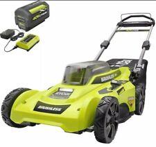 Ryobi Cordless Mower Adjustable Push Walk Behind 40v Ryobi Battery and Charger