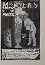 New listing 1909 Original Vintage Mennen Borated Talcum Toilet Baby Powder Print AD