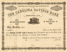 The Carolina Savings Bank > 187_  South Carolina Charleston stock certificate