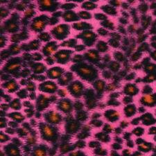 Velboa Kunstfell Fellstoff Fellimitat Leopard pink braun schwarz 1,53m Breite