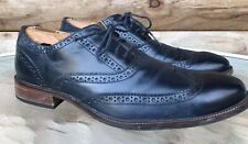 Cole Haan Williams Wingtip Navy Blue Leather Brogue Oxford Dress Shoe Men's 11 M