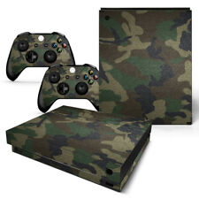 Xbox One X Console Skin Decal Sticker Army Camo + 2 Controller Skins FULL SET