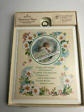 Vintage New Hallmark Baby Personalized Wood Plaque With Photo Insert Shower Gift