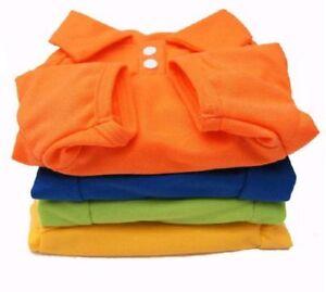 Hunde T-Shirt Polo Shirt XS S M L pink gelb blau rosa grün orange Hund Katze
