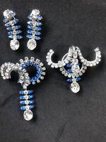 vintage rhinestone brooch And Earring lot