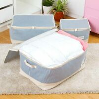 Dust Waterproof Portable Clothes Storage Bag Organizer Closet Quilt Blank Zipper