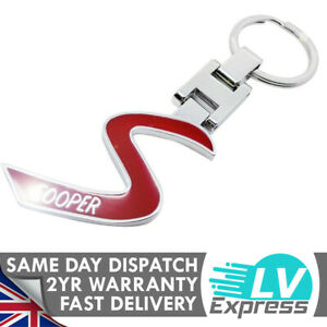 Red S Keychain Compatible with Mini Keyring Matches Badge