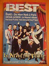 Best N° 282 du 4ème 1991-Supplément les disques de 1991-Daho-Michael Jackson