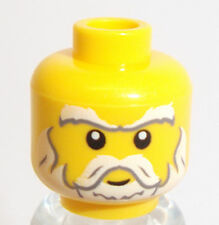 Lego Yellow Minifig Head x 1 Blue Wizard,Santa or Lion King Head