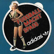 ADIDAS - Fussball Macht Spass, football vintage sport sticker, very rarre !