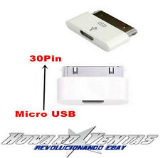 Adaptador Conversor De Micro USB Hembra A 30 Pin Dock Para iPhone 4 4S Macho