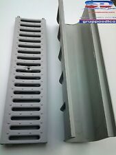 CANALETTA CANALE DI SCOLO COMPONIBILE C/GRIGLIA CARRABILE PVC MODULARE 13X14X50