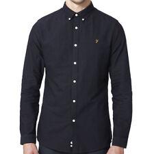 Camicie classiche da uomo blu in cotone slim