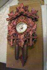 NEW!Germany,Black Forest,Cuckoo,Kuckucksuhr Swing Wall Quartz Clock,LEAF
