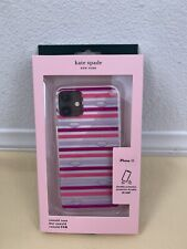 iPhone 11 --- NWT KATE SPADE Lips with Stripe Comold Case