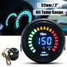 2'' 52mm LED Digital Oil Temp Temperature Gauge Kit Car Meter Pointer w/ Sensor