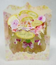 A FLORAL THANK YOU  Greeting Card 3-D Interactive Swing by Santoro Graphics 163