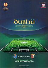 2011 EUROPA LEAGUE FINAL SC BRAGA v FC PORTO MINT PROGRAMME