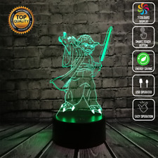 YODA STAR WARS DARTH VADER 3D Acrylic LED 7 Colour Night Light Touch Table Lamp