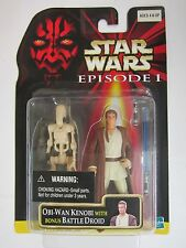 Star Wars: Episode I Obi-Wan Kenobi with Bonus Battle Droid 2 pack with stickers