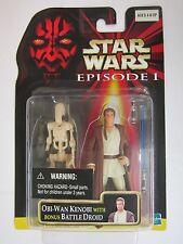 Star Wars: Episode I Obi-Wan Kenobi with Bonus Battle Droid 2 pack with stickers
