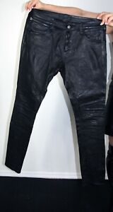 J Brand Black Lambskin Leather Pants Size 34 Large
