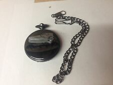 Bond Bug ref33 emblem polished black case mens pocket watch