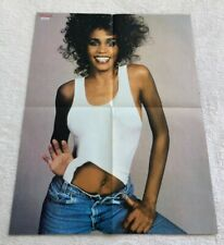 WHITNEY HOUSTON 1987 - Swedish Poster Music Magazine Okej 1980s Vintage